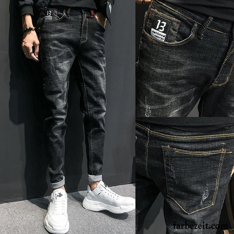 heiße neue Produkte Bestseller einkaufen San Francisco Hosen Männer Jeans Schwarz Herren Freizeit Lange Schlank ...