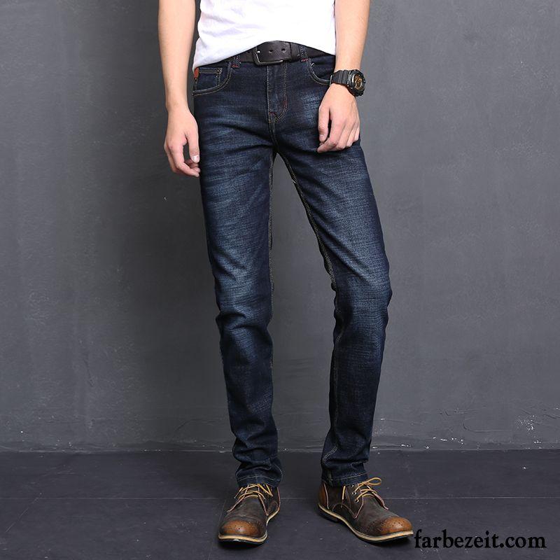 kurze hosen m nner jeans jeans herren freizeit herbst elastisch schlank verdickung lange retro. Black Bedroom Furniture Sets. Home Design Ideas
