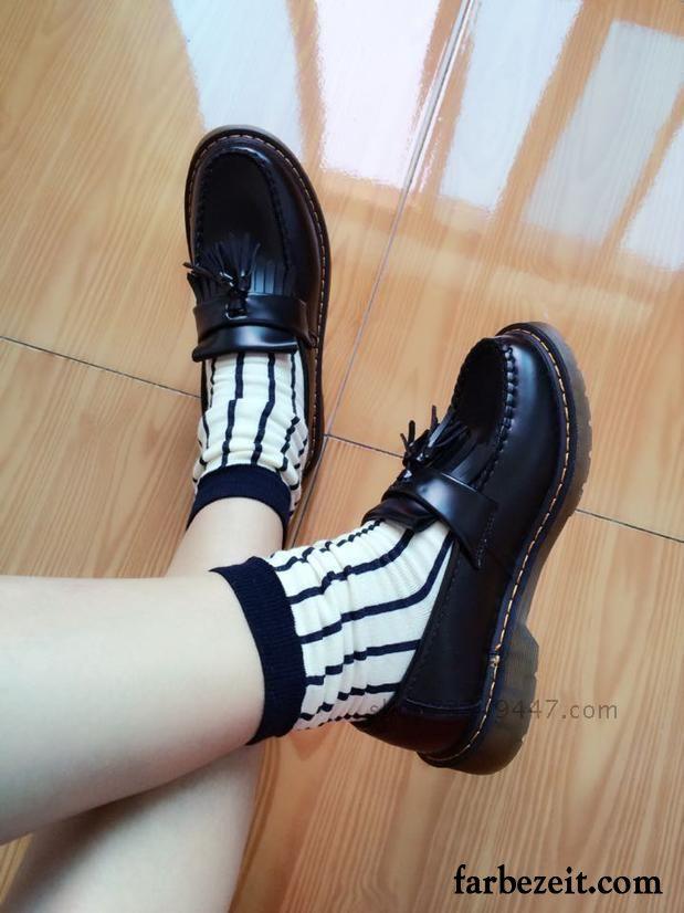 0ab812e7985eeb Englische Schuhe Damen England Lederschuhe Runde Zehe Oxford Sohle ...