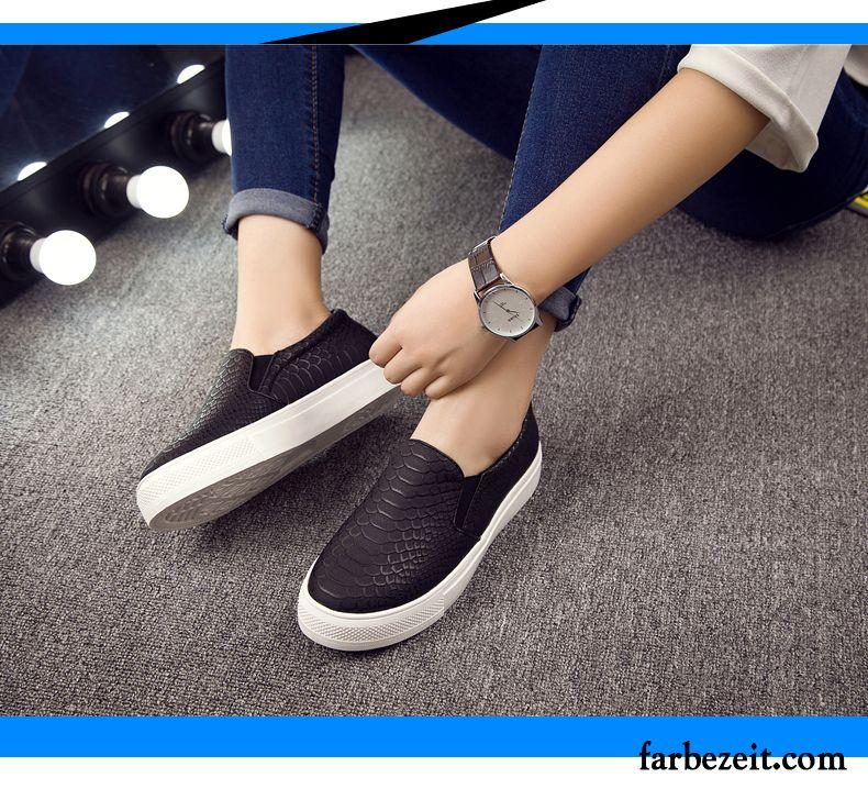 Schwarze Slipper Damen Flache Schuhe Neue Schüler Feder