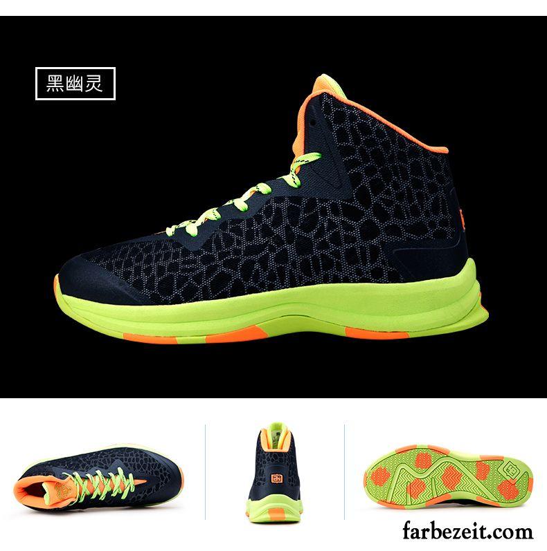 Weisse Herren Schuhe Tragen Cushioning Basketballschuhe