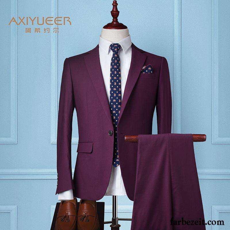 Anzug Grau Slim Fit Anzug Kostum Schlank Hochzeit Herren Beruflich