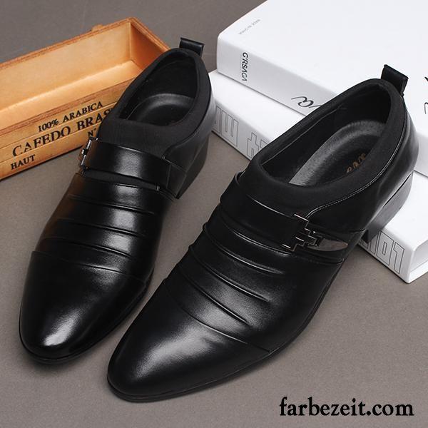 Anzug Schuhe Herren Schwarz Spitze Schnurung Trend Lederschue Jugend