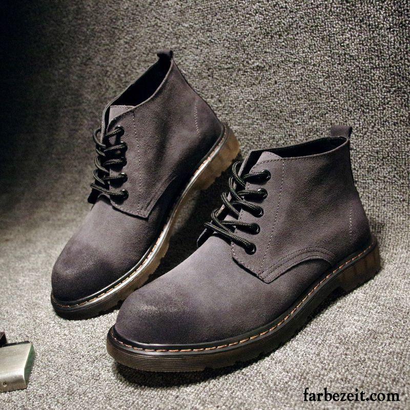 braune boots herren kurze stiefel hohe echtleder gefrostet. Black Bedroom Furniture Sets. Home Design Ideas