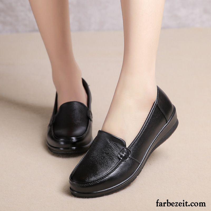 Schuhe Schwarzer Anzug Damen Echtleder Weiche Sohle