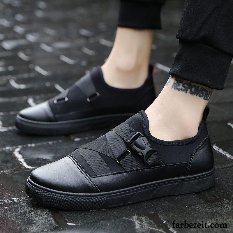 165be757ce3143 Business Sneaker Herren Faul Trend Halbschuhe Feder Tuch Schuhe Weiß Dicke  Sohle Casual Skaterschuhe Schwarz Schüler