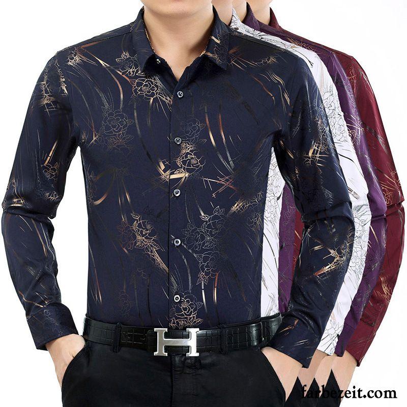 buy popular 8cbb9 faf08 Männer Hemden Langarm Golden Herbst Hemd Drucken Hemden ...