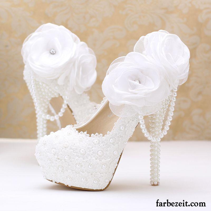 hot sale online 77565 2d8b5 Pumps Große Größen Hochzeit Schuhe Ultra Damen Weiß ...