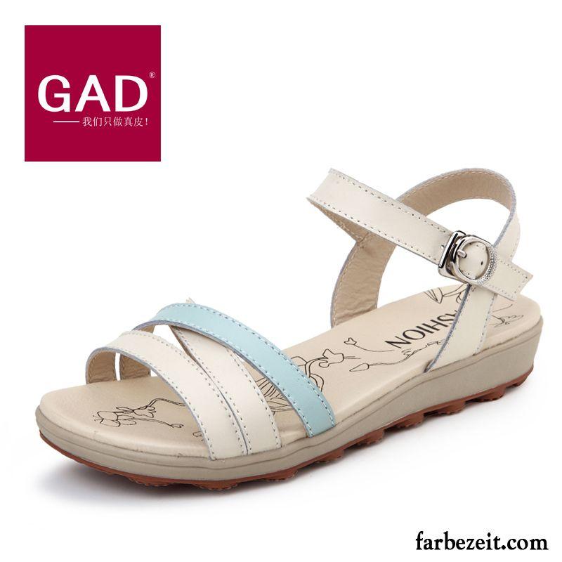 Echtleder Schüler Schuhe Sommer Rutschsicher Sandalen Gold Damen H29IWED
