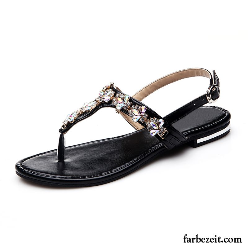 Sandaletten Silber Plateau Sandalen Rom Schuhe Sommer Strand Mode  Rutschsicher Neue Produkte Damen Flache 2086df55bd