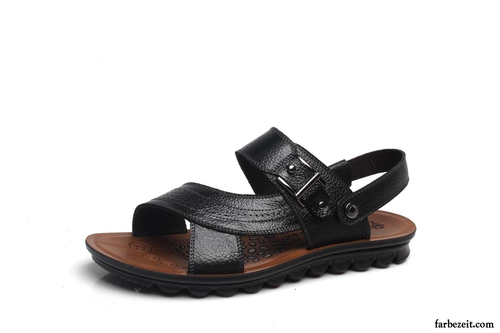 Schuhe Herren Blau Kostenloser Versand Pantolette Marke Leder
