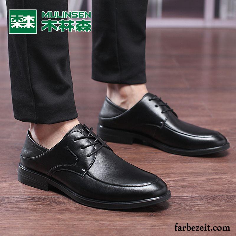 09a47e6a7c5b Weite Schuhe Herren Feder Geschäft Lederschue Schnürschuh England Echtleder  Original Schuhe Casual Trend Günstig